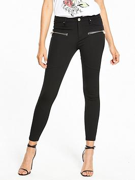 river-island-river-island-zip-detail-ponte-mid-rise-skinny-trouser