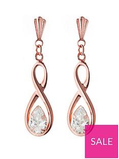 love-gold-9ct-rose-gold-figure-of-8-cz-drop-earrings