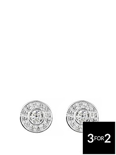 love-silver-sterling-silver-cubic-zirconia-halo-studs