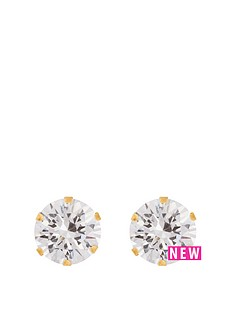 love-gold-9ct-yellow-gold-8mm-cz-stud-earrings