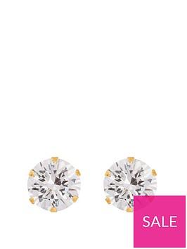 love-gold-9ctnbspyellow-gold-8mmnbspcubic-zirconia-stud-earrings