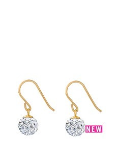 love-gold-9ct-gold-6mm-white-crystal-glitterball-hookwire-drop-earrings