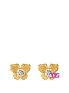 love-gold-9ct-gold-butterfly-cz-stud-earrings