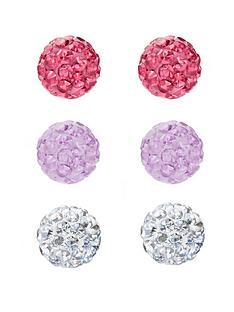 love-silver-sterling-silver-4mm-crystal-glitterball-set-of-3-earrings