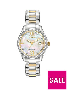 citizen-citizen-eco-drive-mother-of-pearl-dial-2-tone-stainless-steel-bracelet-ladies-watch