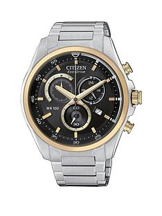citizen-black-dial-with-gold-accents-and-stainless-steel-bracelet-mens-watch