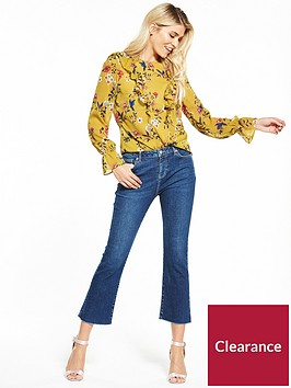 v-by-very-floral-print-ruffle-front-blouse