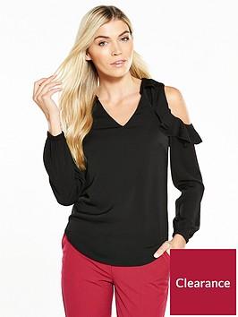 v-by-very-satin-frill-cold-shoulder-blouse-black