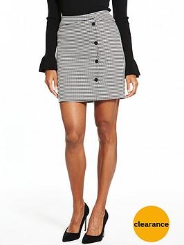 v-by-very-mini-check-print-skirt