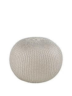 metallic-knitted-pouffe