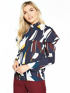 v-by-very-high-neck-geometric-print-blouse
