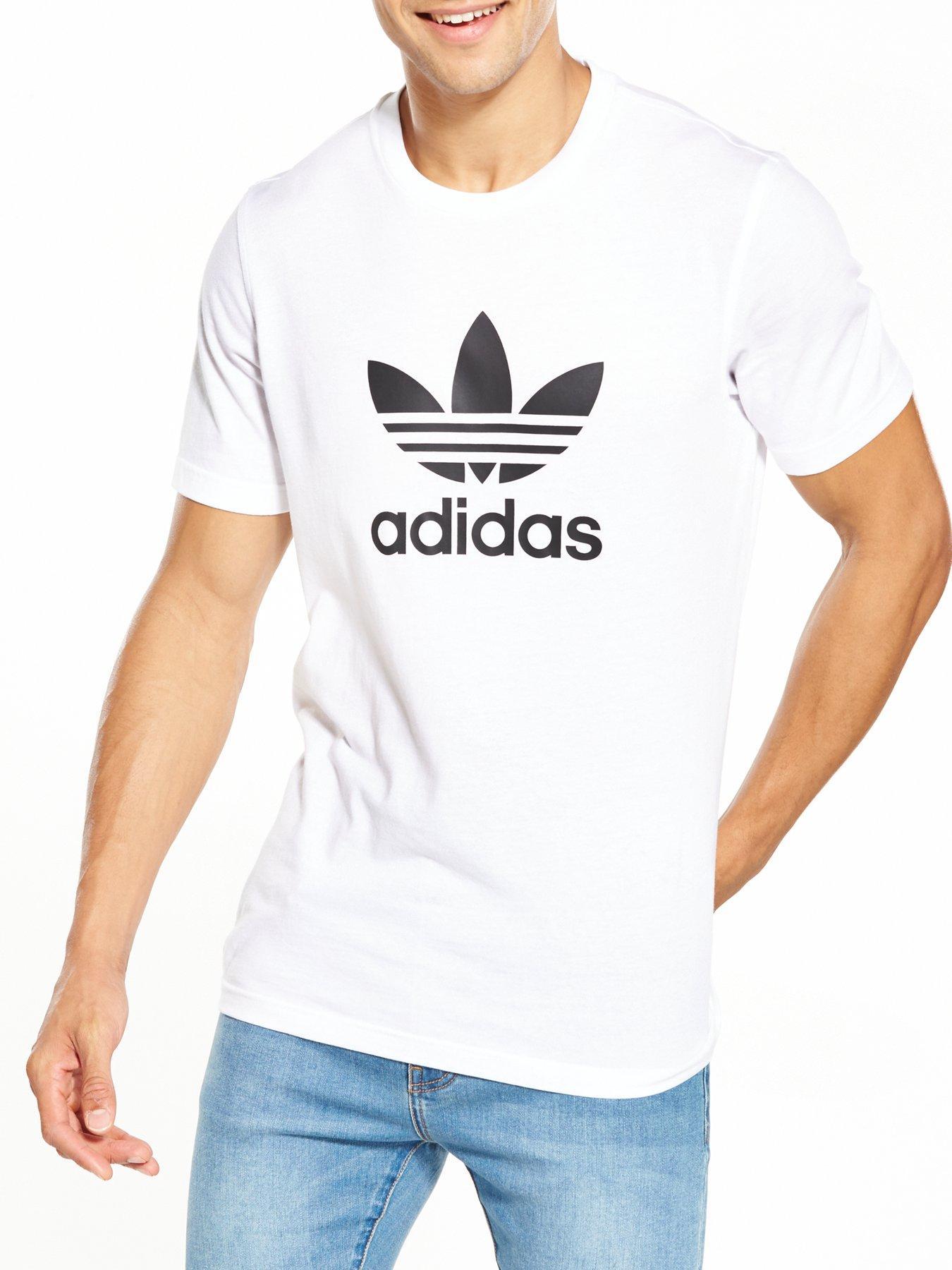 adidas t shirt mens white