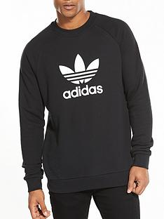 adidas-originals-trefoil-crew-neck-sweat-black