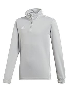 adidas-youth-core-18-training-12-zip-top-grey