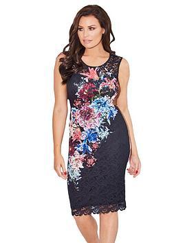 Jessica Wright Jessica Wright Elsie Printed Lace Midi Dress