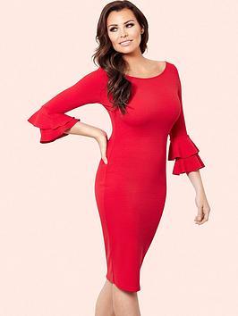 Jessica Wright Jessica Wright Izzie Frill Sleeve Bodycon Dress