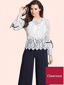 jessica-wright-misha-lace-flute-sleeve-blouse
