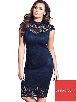 jessica-wright-collette-high-neck-lace-midi-dress-navy