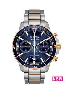 bulova-bulova-marine-star-chronograph-rose-gold-and-stainless-steel-mens-watch