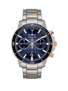 bulova-bulova-marine-star-chronograph-rose-gold-and-stainless-steel-mens-watch
