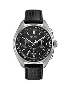 bulova-bulova-moon-black-leather-strap-with-free-nato-strap-mens-watch