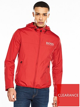boss-logo-hooded-jacket-red