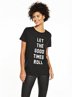 v-by-very-good-times-roll-slogan-t-shirt
