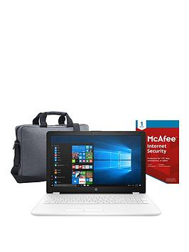 Image of Hp 15-Bs009Na Intel&Reg; Pentium&Reg;, 8Gb Ram, 1Tb Hard Drive 15.6 Inch Laptop Includes Mcafee Internet Security And Topload Case - White - Laptop Only