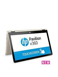 hp-pavilion-x360-15-br003nanbspintelreg-coretrade-i3nbsp8gbnbspram-1tbnbsphard-drive-156in-touchscreen-2-in-1-laptop-gold