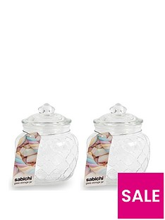 sabichi-embossed-jars-600-ml-set-of-2
