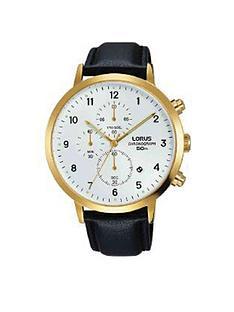 lorus-mensnbspleather-strap-chronograph-watch