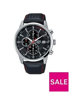 lorus-lorus-mens-black-leather-strap-chronograph-watch