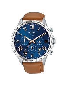 lorus-lorus-mens-tan-leather-strap-chronograph-watch