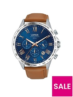 lorus-lorus-mens-tan-leather-strap-chronograph-watch