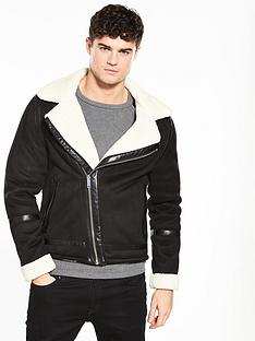 river-island-shearling-biker-jacket