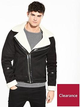 river-island-shearling-biker-jacket