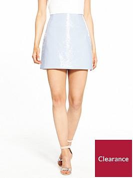 ri-petite-vinyl-mini-skirt-light-blue