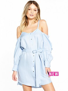 river-island-cold-shoulder-dress