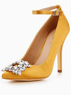 v-by-very-rachel-embellished-point-court-shoe-yellow