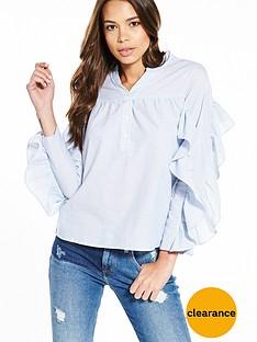 river-island-stripe-frill-shirt