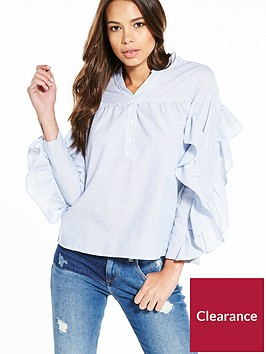 river-island-stripe-frill-shirt