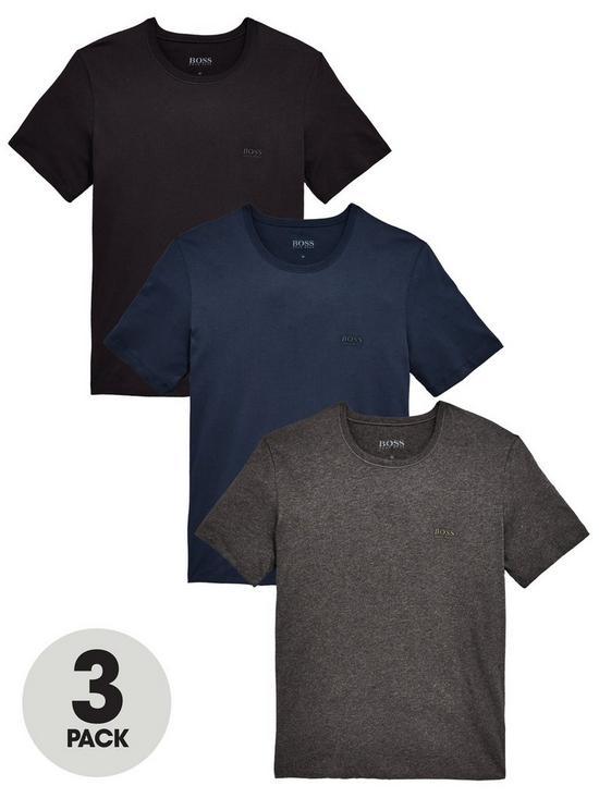 a0e876b13 BOSS Core T-Shirts (3 Pack) - Navy/Black/Charcoal   very.co.uk