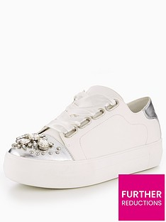 v-by-very-julia-jewelled-toe-lace-up-trainer-grey