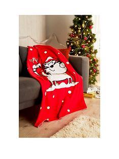 hamilton-mcbride-christmas-cat-fleece-throw