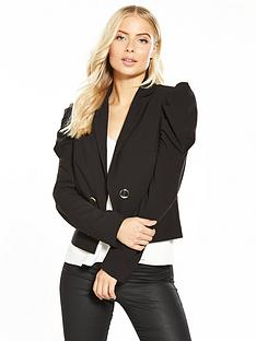 v-by-very-cropped-puff-sleeve-jacket