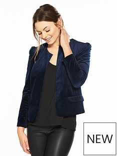 v-by-very-short-collarless-velvet-jacket
