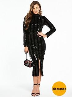 v-by-very-stripe-sequin-dress