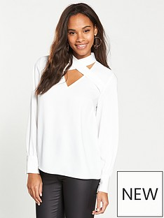 v-by-very-cross-over-blouse-ivory