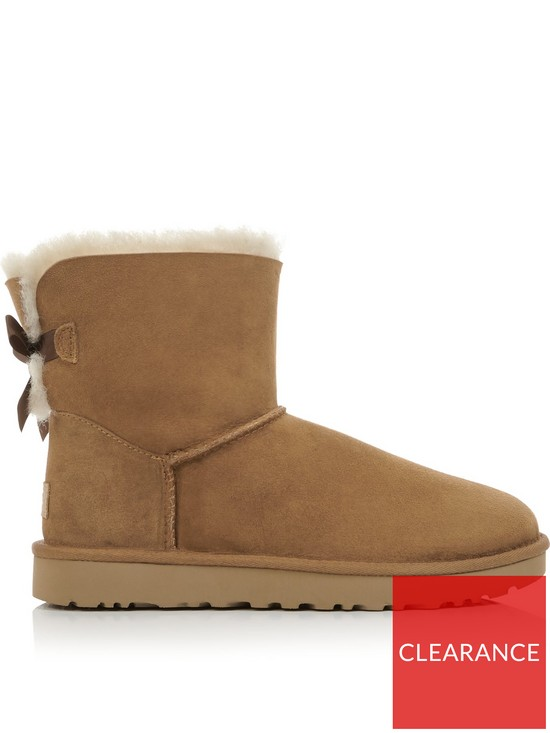 088684ede43 Mini Bailey Bow Shearling Boots - Chestnut