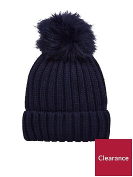 warehouse-faux-fur-pom-hat